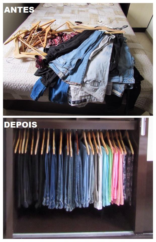 Trabalho Realizado – Organização de closet apósmudança