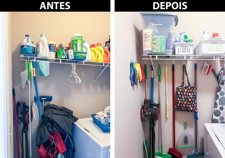 Organização na lavanderia de umaamiga